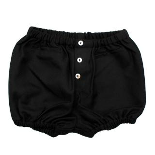 Bonnet a Pompon Black Buttoned Baby Bloomers