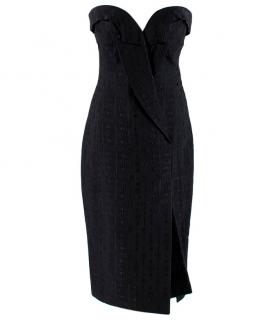 Stella McCartney Strapless Jacquard Lapel Dress