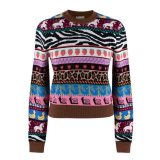 Miu Miu Virgin Wool Multi-Colour Patterned Jumper