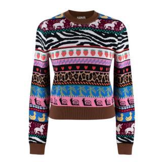 Miu Miu Virgin Wool Multi-Colour Patterned Jumper