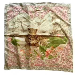 Salvatore Ferragamo silk leopard scarf
