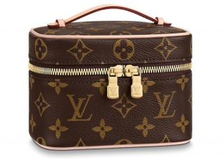 Louis Vuitton Nice Nano Brown Monogram Travel Case