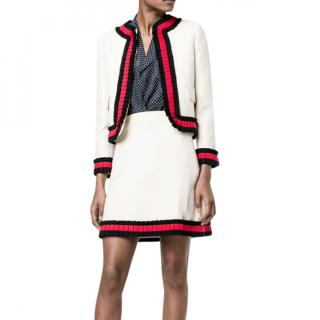 Gucci Cream Logo Mini Skirt