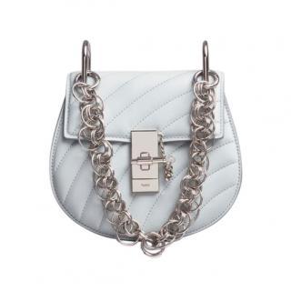 Chloe Airy Grey Calfskin Mini Drew Bijou Shoulder Bag