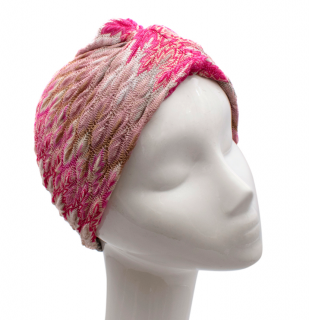 Missoni Pink Woven Wool-Blend Turban