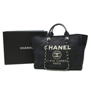 Chanel Deauville Denim Tote Bag