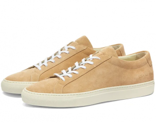 Common Projects Original Achilles Low Suede Contrast Sole Sneakers