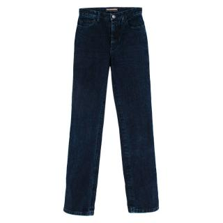 Loro Piana Dark Denim High-Waisted Jeans