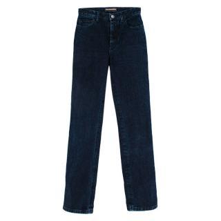 Loro Piana Dark Denim High-Waisted Jeans