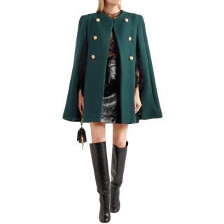 Chloe Green Knit Lightness Green Wool Cape