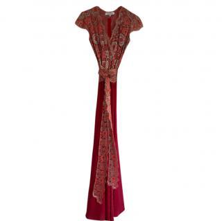 Libelula Rose Pink Lace & Silk Gown