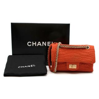 Chanel Burnt Orange Croc Embroidered Jersey Reissue 2.55 224 Bag