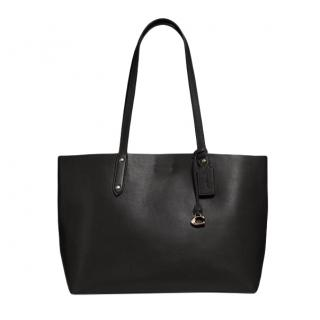 Coach Black Smooth Leather Central Tote