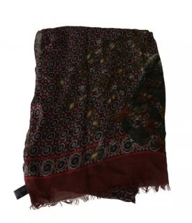 Dolce & Gabbana Men's Paisley Maroon Printed Scarf