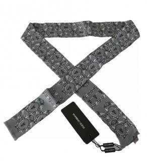 Dolce & Gabbana Mens Grey Printed Neck Tie