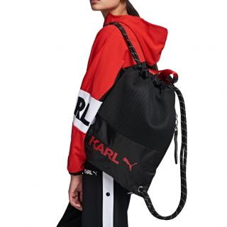 Karl Lagerfeld x Puma Black Drawstring Backpack