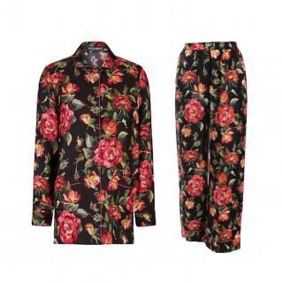 Dolce & Gabbana Floral Print Pyjama Top & Pants