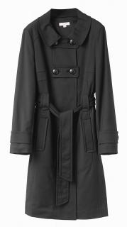 Laurel Black Double Breasted Trench