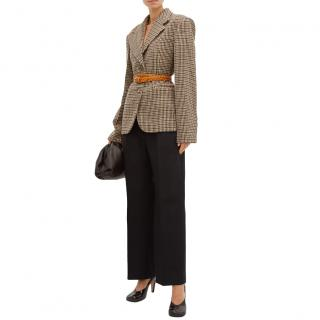 Khaite Oversized checked wool-blend blazer