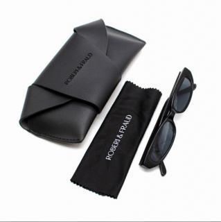 Roberi & Fraud Black Rectangle Frame Frances Sunglasses
