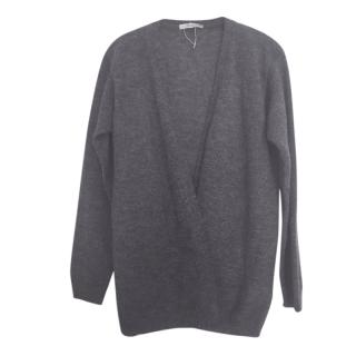 Max Mara Grey Wool & Mohair Blend Cardigan