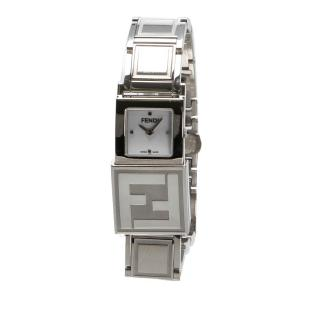 Fendi Silver Tone Stainless Steel Secret Watch