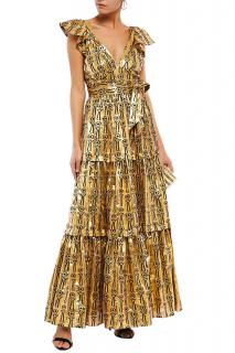 Temperley London Eliska Metallic Long Dress