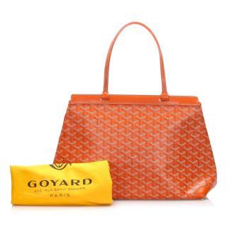 Goyard Orange Goyardine Bellechasse PM Tote Bag