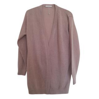 Max Mara Mohair Blend Hazelnut Knit Cardigan