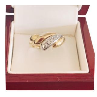 Damiani White, Yellow & Rose Gold Diamond Set Ring