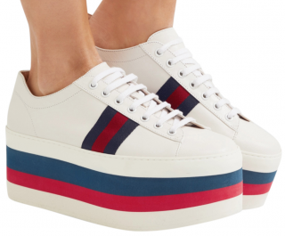 Gucci Web Stripe Platform Ace Sneakers