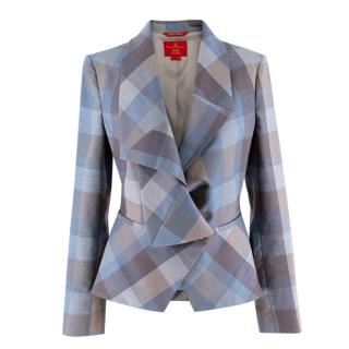 Vivienne Westwood Red Label Plaid Wool Draped Blazer
