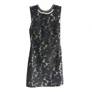 3.1 Philip Lim Nude/Black Floral Mini Dress