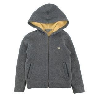 Bonpoint Kids 6Y Grey & Yellow Wool Hoodie