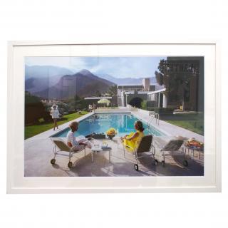 Slim Aarons 'Poolside Gossip' White Wood Framed Print & Mount 66x98cm