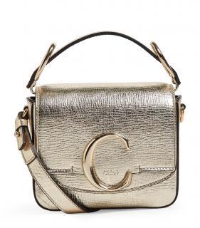 Chloe Metallic Gold Mini C Bag