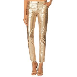 Ba&Sh Gold Tone Yuca Pants