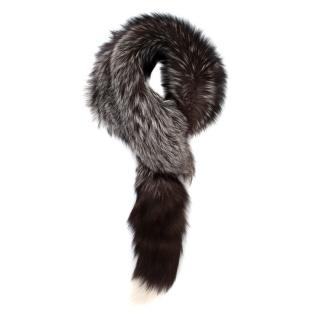 Alexander McQueen Grey/Brown Fox Fur Stole