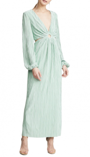 Ronny Kobo Mint Green Selita Keyhole Dress