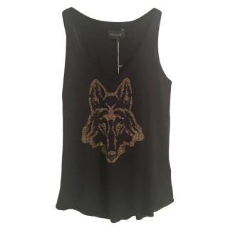 Zadig & Volatire Wolf Embellished Cashmere Vest, size S NEW
