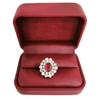 Bespoke White Gold Diamond & Ruby Ring