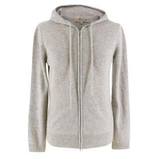 Duca Di S Giusto Grey Cashmere Zip-Up Hoodie