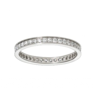 Cartier Ballerine Band Ring, Platinum & Diamonds