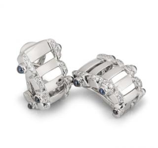 Patek Philippe Sapphire & Diamond Earrings