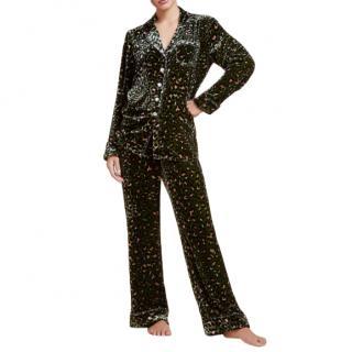 Olivia Von Halle The Lila Abandon Velvet Pyjama Set