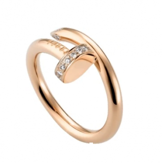Cartier Juste un Clou Rose Gold Ring with Diamonds
