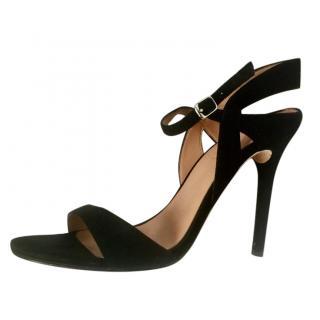 Halston Heritage Black Suede Sandals