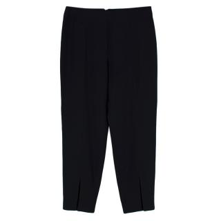 Alexander McQueen Black High Rise Cropped Trousers