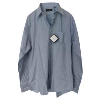 Christian Dior Monsieur Blue Cotton Classic Shirt