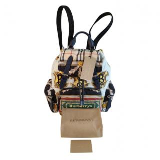 Burberry The Medium Archive Scarf Print Backpack